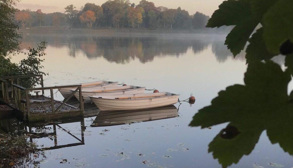 Vackra höstdagar på sjön